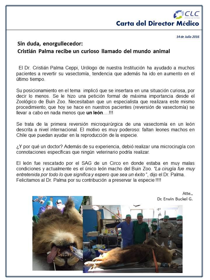 Carta del Director Médico CLC