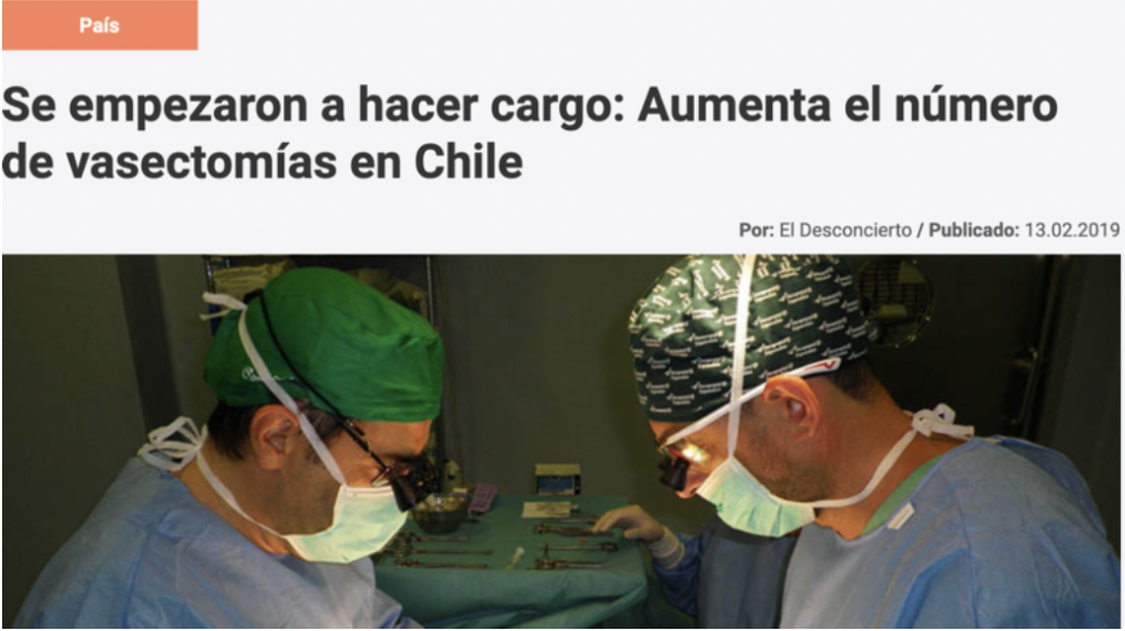 Se empezaron a hacer cargo: Aumenta el número de vasectomías en Chile