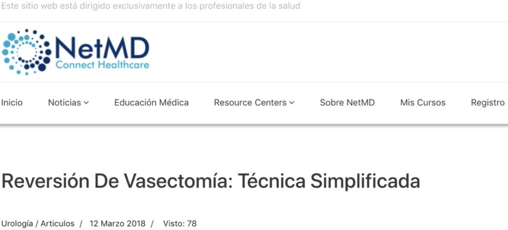 Reversión de vasectomía: Técnica simplificada